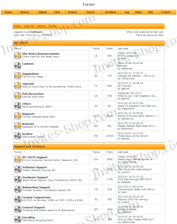 Buy Bit-hdtv.com Invite or Account - Invites-Shop.com